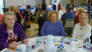 Diners enjoying the JCS Kosher Senior Cafe