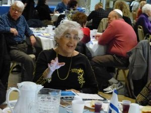 Diners enjoying the JCS Kosher Senior Cafe